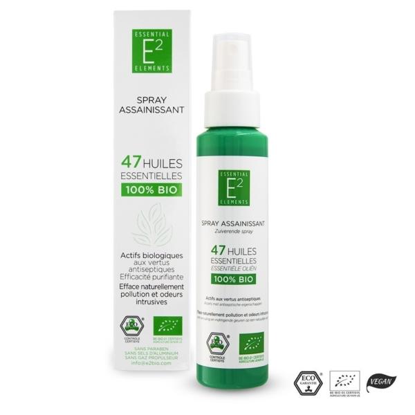 Spray Assainissant 100% Bio aux 47 Huiles Essentielles | E2 Essential Elements